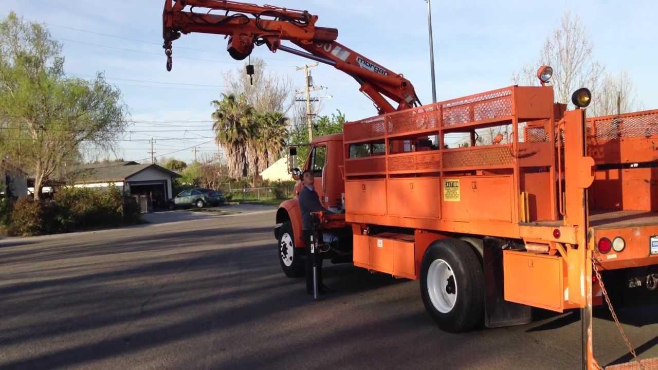 1990 international 4900 hiab 090 aw knuckle boom crane truck for rh youtube com Hiab Services Hiab Knuckle Boom Truck