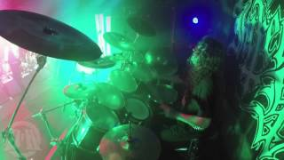INFERNAL WAR@Into Dead Soil-Stormblast-Live in Poland 2015 (Drum Cam)
