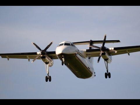 De Havilland Canada DHC-8-300's At Kelowna International Airport CYLW