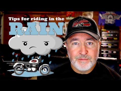 Tips for riding a motorcycle in the rain - Episode
