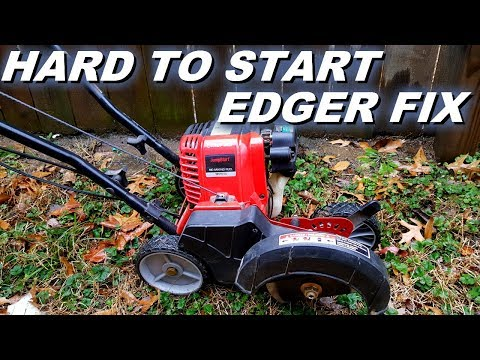 Fixing a hard to start edger