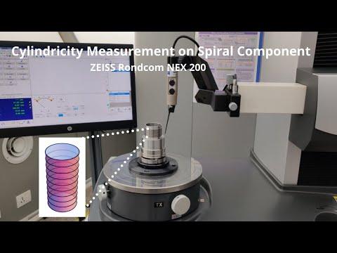 Spiral cylindricity measurement on CMM