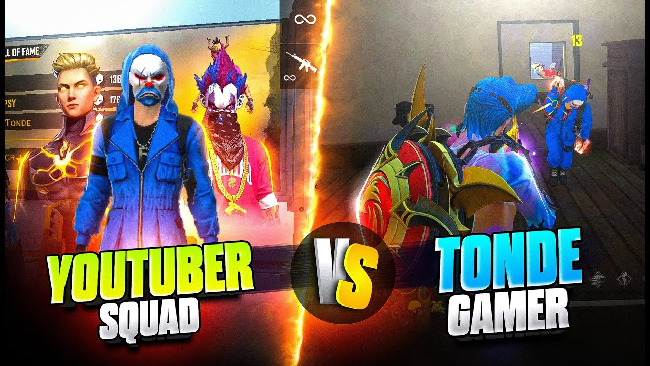 Pro Blue Criminal & Youtubers' Squad Vs Tonde Gamer Part 1 Best Rank Battle - Garena Free Fire