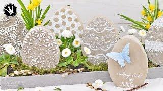 DIY - Osterdeko/Frühlingsdeko selber machen | Osterei aus Beton | Gießform selber machen