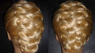 Prom, Bridal Wedding Updo Hairstyle Tutorial.Evening Loop Braided Hairstyle.Penteados