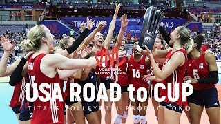 USA Road To CUP at the Women's Volleyball Nations League 2018 (Full HD)
