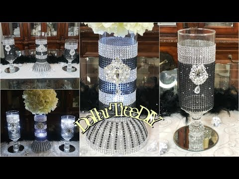 ✨💎 DOLLAR TREE DIY GLAM CANDLE HOLDER | BLING WEDDING CENTERPIECE 2019 ✨💎