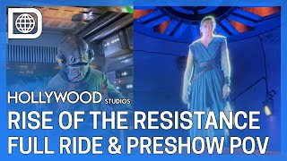 Star Wars: Rise of the Resistance Full Ride & Preshow POV -Galaxy's Edge, Disney's Hollywood Studios