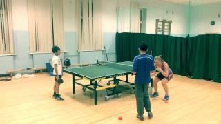 Тренировка по настольному теннису с детьми. Table tennis training with children.By Galina Georginova