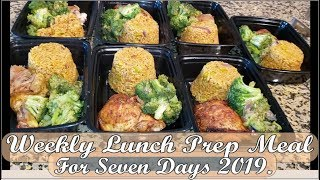 How to make weekly lunch prep meal for seven days