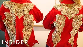 We Made A Versace-Inspired Crystal Jacket With Amber Scholl