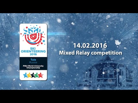 Mixed Relay competition - 1st World Ski Orienteering University Championship 2016 in Tula - Russia