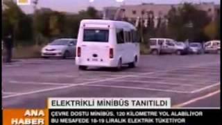 ilk elektrikli minibüs itü meam itübüs