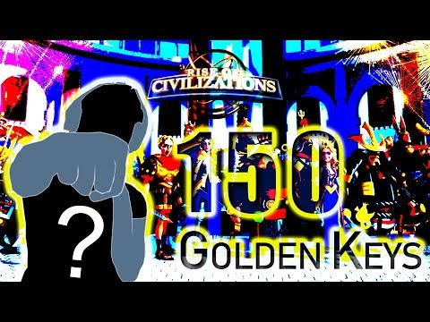 Rise of Civilizations: Rolling 150 Golden Keys | Is that Blank Hero?