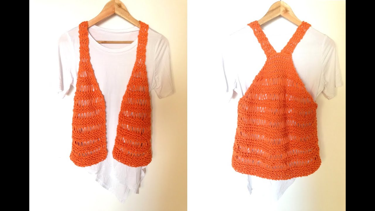 Loom Knit Vest Pattern : How to Loom Knit a Summer Vest (DIY Tuteate) - YouTube