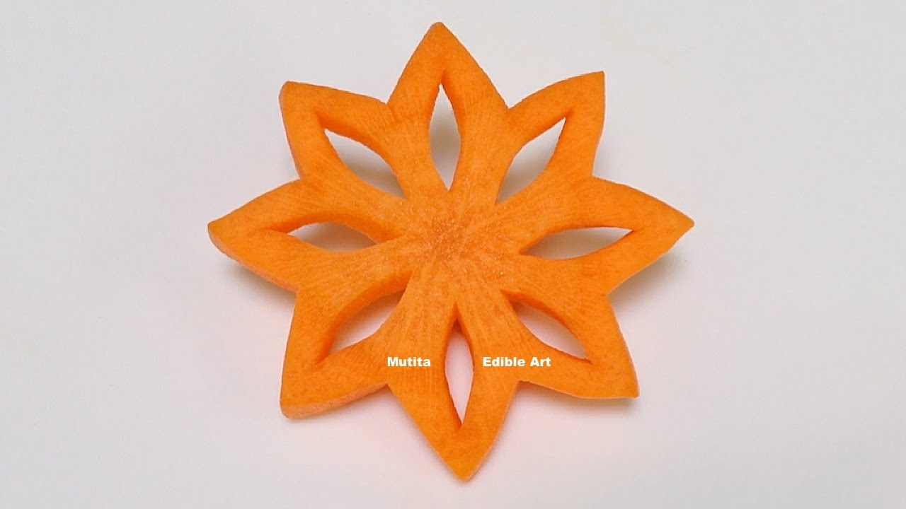 Simple art of christmas star carrot part beginners