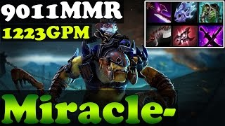 Dota 2 - Miracle- 9011MMR Plays Alchemist with 1223GPM - Full Game - Ranked Match Gameplay