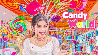 Living in a Candy World for 24 hours!🍭🍬 *Eating Giant lollipop*