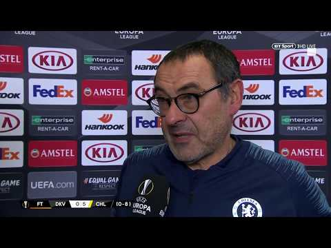 Sarri praises Callum Hudson-Odoi after Kiev demolition | UEFA Europa League