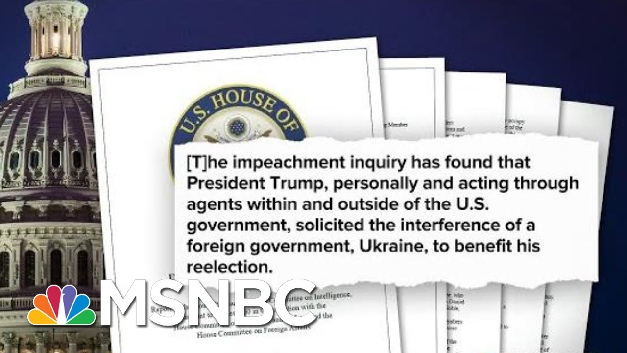 House Intelligence Committee Releases Impeachment Report   Deadline   MSNBC