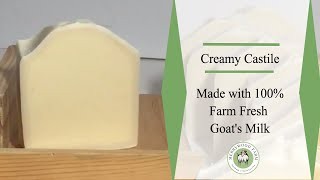Creamy Castile Goat Milk Soap | Making Cold Process Soap | Merrywood Farm