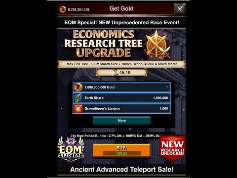 Game Of War: New Econ Research + Catastrophic Elixir Potion - Go over together with me! 👍