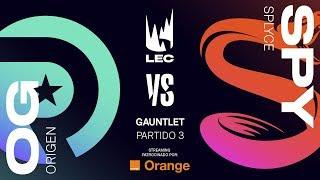 ORIGEN VS SPLYCE | GAUNTLET [2019] | Game 3 | League of Legends