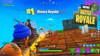 FIRST #1 FINISH on Fortnite Battle Royale! Victory Royale Gameplay!