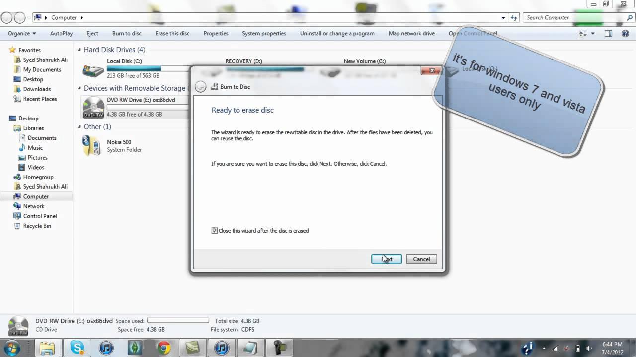 How to erase dvd-rw in windows 7? | leawo tutorial center.
