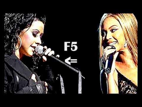 (HD) Christina Aguilera Vs. Beyonce Knowles - Studio : Bb2 - E6
