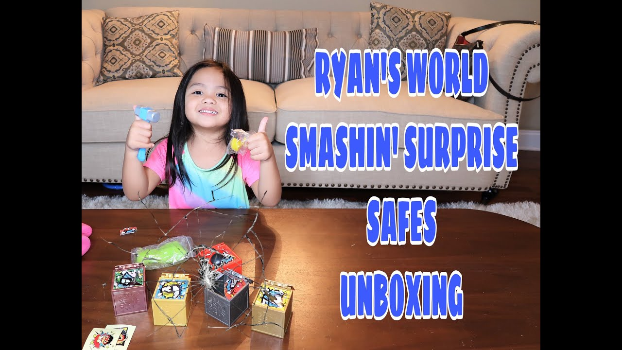 UNBOXING RYAN'S WORLD SMASHIN' SURPRISE SAFES | #ryansworld #toyunboxing