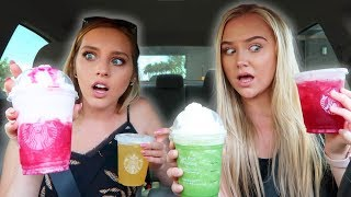 Trying MY Subscribers FAVORITE Starbucks Drinks with KEEGAN ACTON