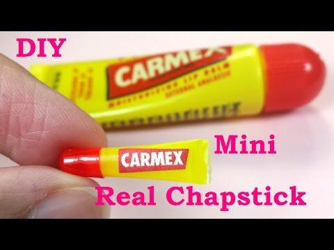 DIY Miniature Working (Real) Carmex Chapstick Doll Lip Balm
