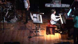Young piano prodigy. 11 y.o. Pianist & Band -  GEORGIE HERRERA - Elton John's Funeral for a Friend