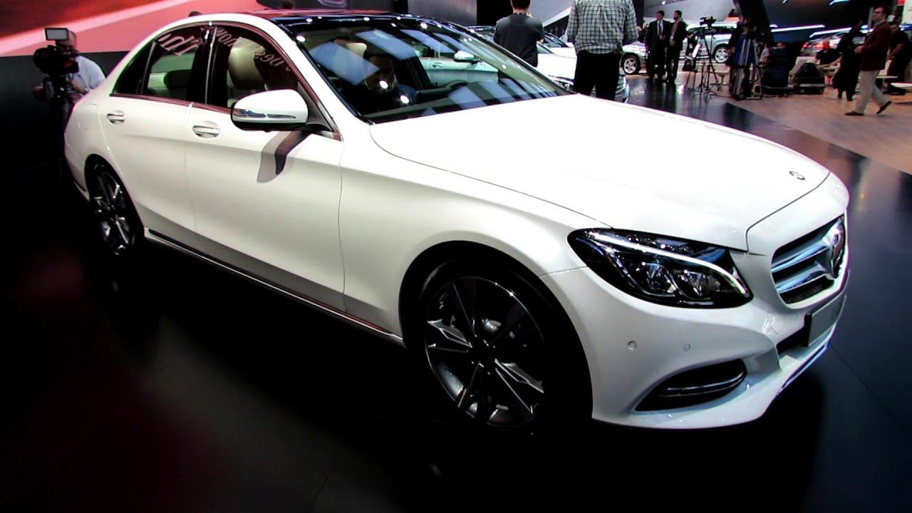 2015 mercedes banz c class c250 exterior and interior walkaround debut at 2014 detroit auto show youtube
