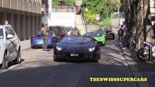 One day carspotting in Zurich - LA Ferrari, Ave, Gold Aventador SV...