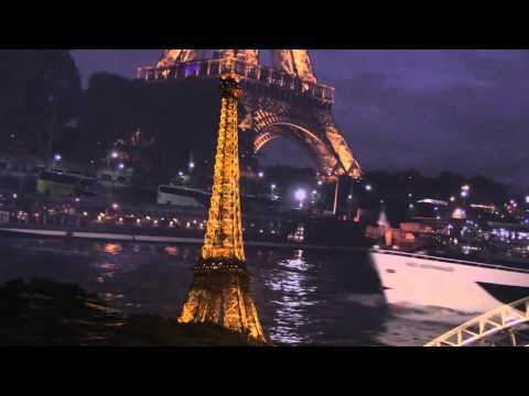 Seine river cruise at night, Paris, France