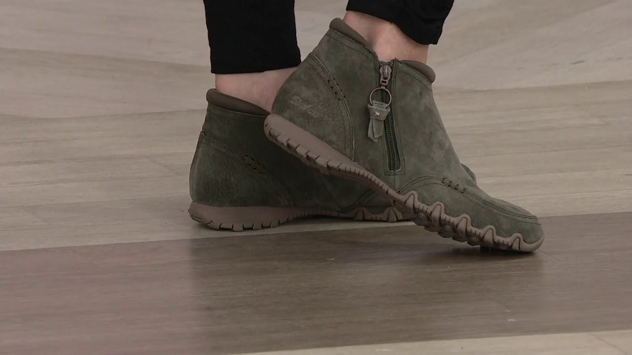 hot new products look good shoes sale low price sale Skechers Relaxed Fit Suede Ankle Boots - Zappiest on QVC
