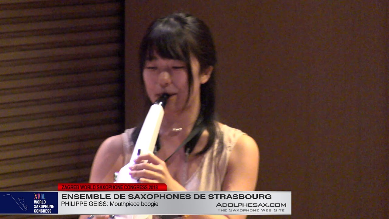 Mouthpiece Boogie by Philippe Geiss   Ensemble de Saxophones de Strasbourg   XVIII World Sax Congres