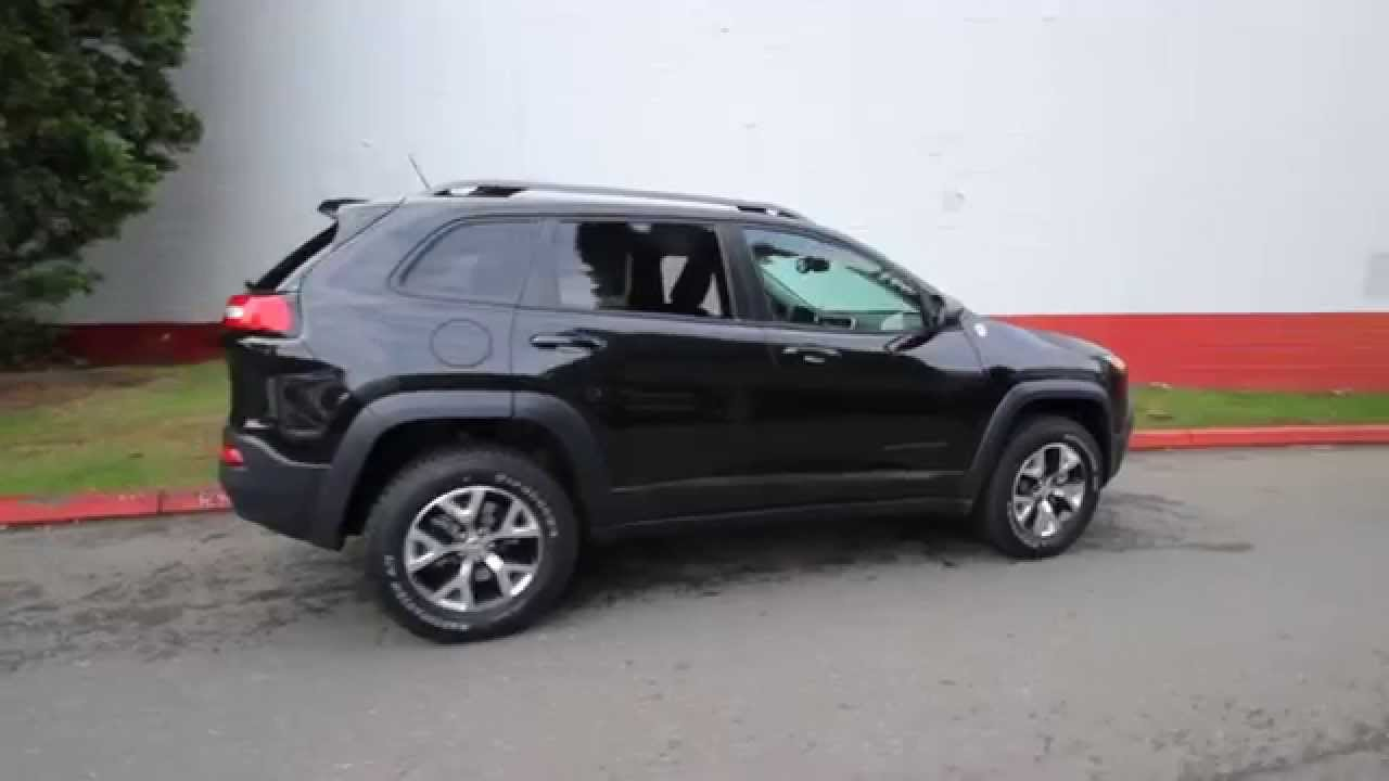 2015 jeep cherokee trailhawk black crystal fw582207 redmond seattle youtube. Black Bedroom Furniture Sets. Home Design Ideas