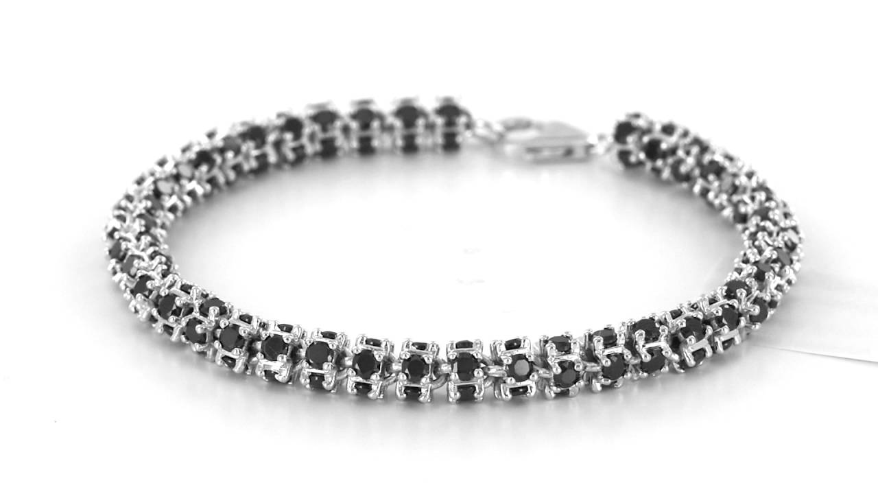 Stylish Designer Black Onyx Solitaire Diamond White Gold Finish Men S Bracelet