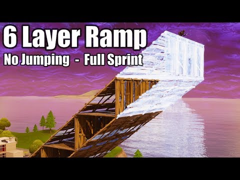 6 Layer Ramp Rush (No Jumping - Full Sprint) - Fortnite Battle Royale