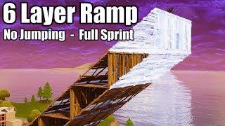 6 Layer Ramp Rush (No Jumping - Full Sprint) - Fortnite Battle Royale