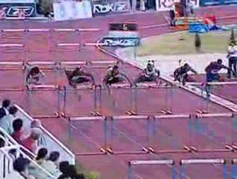 Top three hurdlers finish within 0.02 seconds