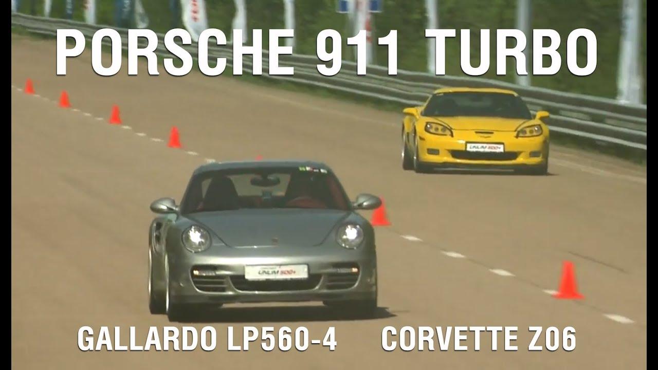 porsche 911 turbo stock vs lamborghini gallardo lp560. Black Bedroom Furniture Sets. Home Design Ideas