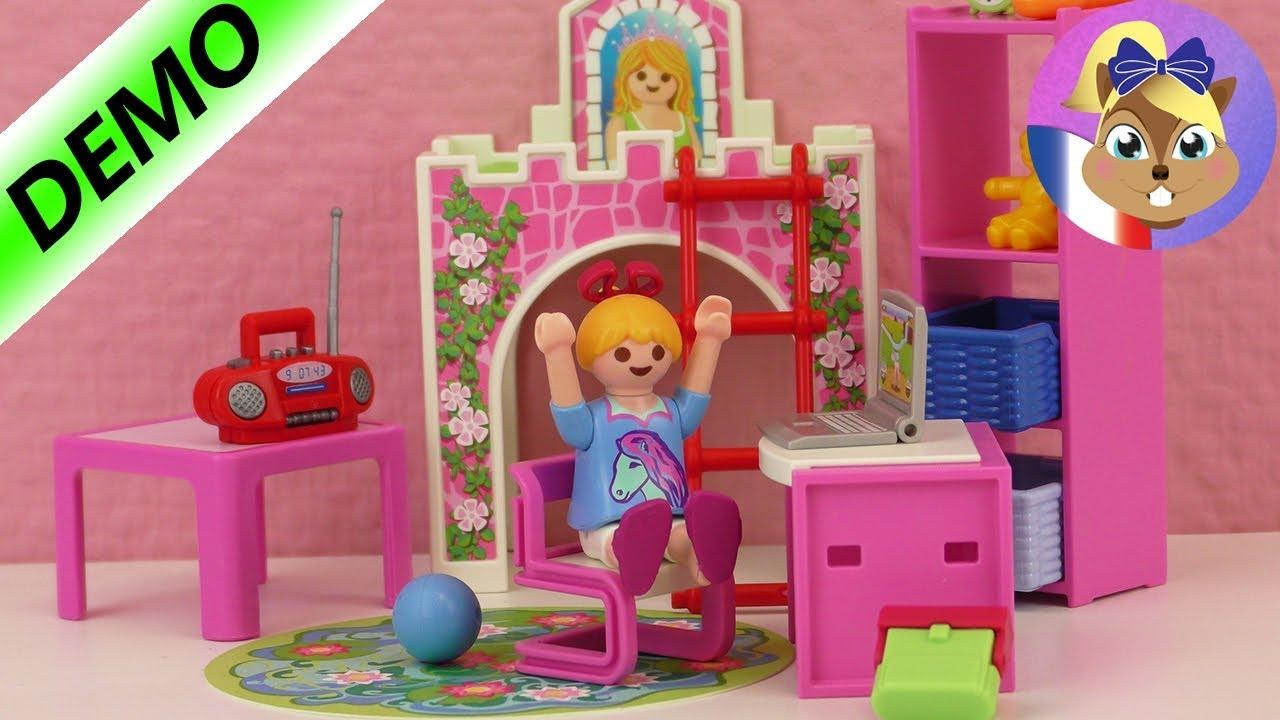 Chambre Playmobil pour enfant  Hannah a une nouvelle chambre  Lit de la Belle au Bois Dormant