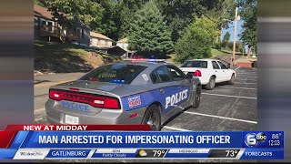 Knoxville teen arrested for impersonation of police officer