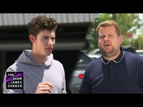 Shawn Mendes Parks In James Corden's Spot #LateLateShawn