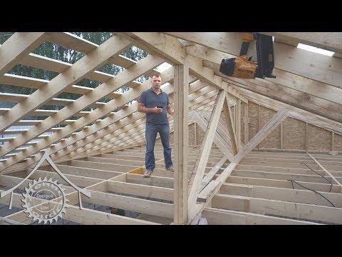 Крыша и перекрытие из дерева. Варианты узлов.