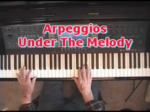 Piano Lesson On Putting Arpeggios Under The  Right Hand Melody Notes